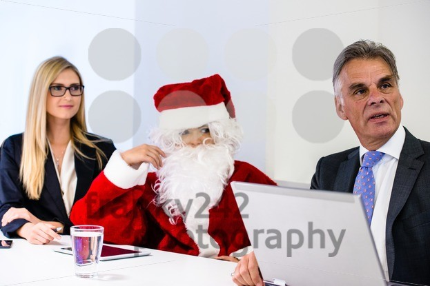 Santa Claus in business meeting - franky242 photography