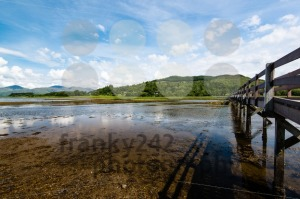 Scottish landscape with wooden footbridge - franky242 photography
