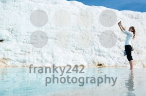 Selfie in a travertine pool in Pamukkale, Turkey - franky242 photography