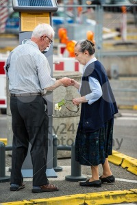 Senior couple at ticket machine outdoor - franky242 photography