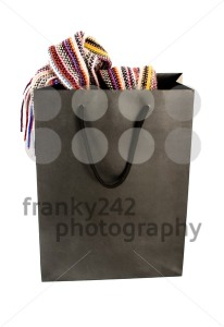 Shopping Bag With Contents On White - franky242 photography