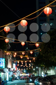 Singapore Chinatown Cityscape At Night - franky242 photography