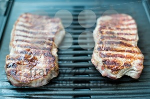 Sirloin steak on the barbecue grill - franky242 photography