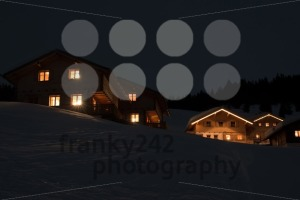 Ski village at night - franky242 photography