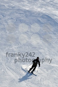 Skier in powder snow - franky242 photography