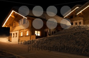 Skiing huts at night in Montafon - franky242 photography