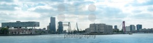 Skyline of Rotterdam with its numerous bridges - franky242 photography