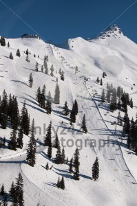 Snow covered ski piste - franky242 photography