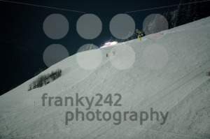 Snow groomer at night - franky242 photography
