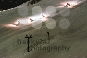 Snow groomer equipment at night - franky242 photography