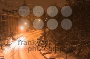 Snowy street - franky242 photography