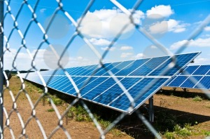 Solar panels behind fence - franky242 photography