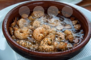 Spanish Tapas – Prawns Fried With Oil And Garlic - franky242 photography