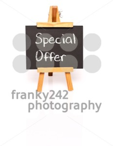 Special Offer. Blackboard with text and easel. - franky242 photography
