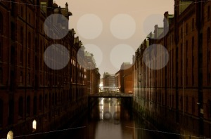 Speicherstadt-In-Hamburg-Germany-in-the-evening