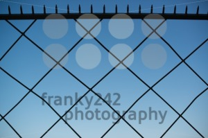 Spiked metal fence - franky242 photography