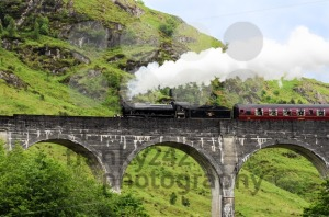 Steam train on Glenfinnan viaduct, known from Harry Potter - franky242 photography