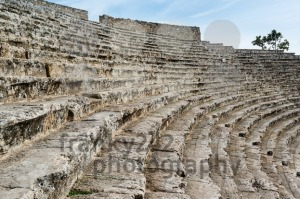 Steps of the ancient amphi theatre at Pamukkale, Turkey - franky242 photography