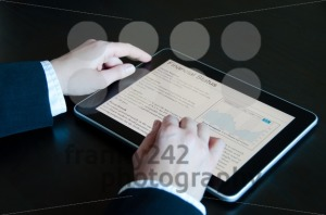 Stock Analysis on digital tablet - franky242 photography