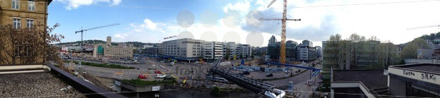 Stuttgart 21 Panorama of construction works - franky242 photography
