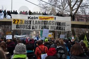 Stuttgart – Jan 29, 2011: Demonstration against S21 plans - franky242 photography