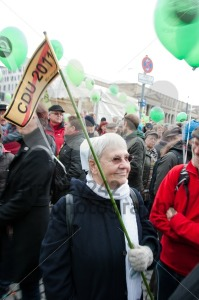 Stuttgart – MARCH 19: Demonstration against S21 Railway project - franky242 photography