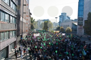 Stuttgart – Oct 09, 2010: Demonstration against S21 project - franky242 photography