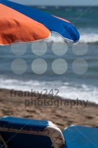 Sunchair And Umbrella On The Beach - franky242 photography