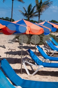 Sunchairs And Umbrellas On The Beach - franky242 photography