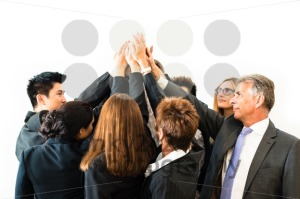 Teamwork – business people with joint hands - franky242 photography