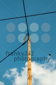 Telephone pole and wires - franky242 photography