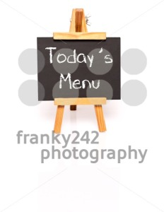 Todays Menu. Blackboard with text and easel. - franky242 photography