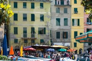 Tourists in Vernazza, Cinque Terre, Italy - franky242 photography
