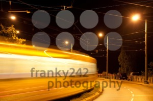 Tram-at-night