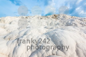 Travertine rocks in Pamukkale, Turkey - franky242 photography