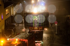 Tunnel digging machinery loaded on a flatbed trailer - franky242 photography
