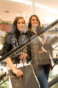Two attractive girls shopping - franky242 photography