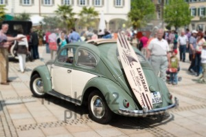 VW Beetle Classic Car with Surfboard - franky242 photography