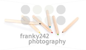 Various color pencils on white background - franky242 photography