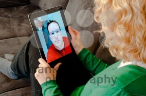 Video Telephony on Digital Tablet PC - franky242 photography
