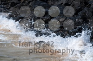 Waves Hitting the Rocks - franky242 photography