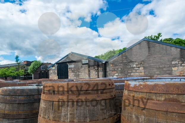 Whisky barrels at a Scottish distillery - franky242 photography