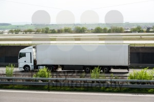 White truck moving on a highway - franky242 photography
