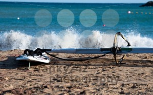 Windsurf Board On The Beach - franky242 photography