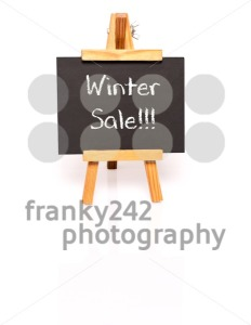 Winter Sale. Blackboard with text and easel. - franky242 photography