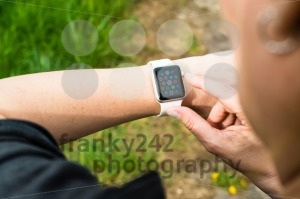 Woman checking her Apple Watch - franky242 photography