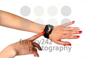 Woman checking her activities on the Apple Watch - franky242 photography