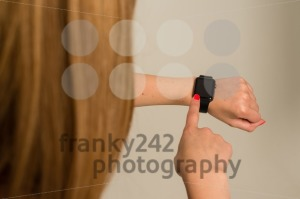 Woman touching the Apple Watch - franky242 photography