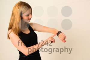 Young woman is touching the Apple Watch - franky242 photography