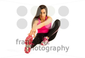 Young woman stretching her leg - franky242 photography